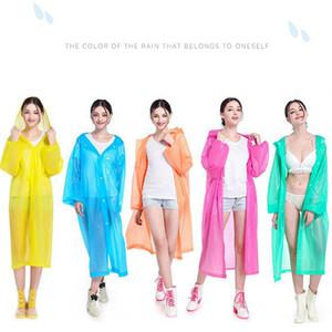 EVA Trençkotlar Olmayan tek kullanımlık Kalınlaşmış Katı Yağmur ceket E Dostu Su geçirmez Yağmurluk Açık Seyahat Uzun Rainwear LJJA3831