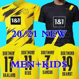 20 21 HAALAND Borussia SANCHO dortmund futbol forması 2020 2021 futbol forması 110 REUS Hummels BRANDT PACO DELANEY Erkekler + Çocuk kiti maillot