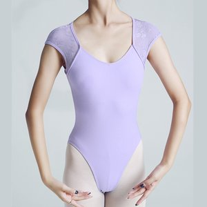 dantel Kolsuz Leotards birleştiriliyor Kadınlar Pratik Dans Kostüm adulto aerialist jimnastik için Balerin Bale Leotard Pamuk
