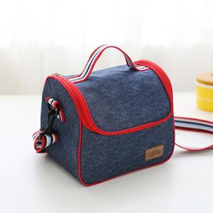 نزهة التخييم حقيبة التخزين المحمولة حقائب الغداء الحرارية القابلة لإعادة الاستخدام معزول للماء الغداء مربع أكسفورد احباط الغداء حمل حقيبة DH1139 T03