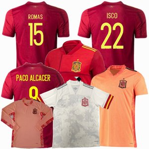 2020 2021 Espagne Football Maillots RAMOS MORATA CITP THIAGO KOKE SAUL DE GEA maison loin gardien 20 21 hommes de football femmes enfants chemise 4XL