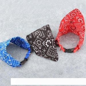 A 3 Colors Pet Triangle Pattern Collars New Adjustable Pet Product Dog Collar Scarf Bibs Bib Pet Accessories Square Scarf