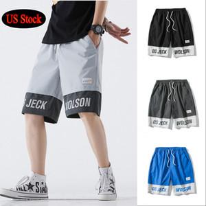 US Stock мужская оснастка шорты пляж короткие брюки открытый случайные свободные спортивные беговые шорты длиной до колен летняя мода Мужские шорты FY9109
