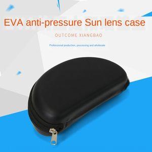 EVA anti-pressure sun sun zipper black sun EVA glasses case glasses case