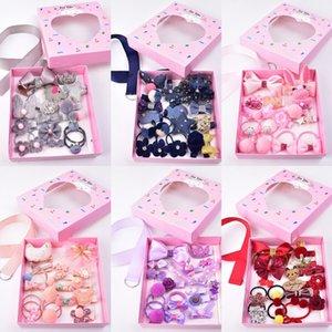 xdv8O Baoguang jewelry bowknot clip gift box set baby headwear Yiwu children's pin pin children clip card Yiwu women's and children's hair b