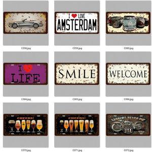 Matrículas Hot 3D Emboss retro sinal Tin Vintage Art Wall placa decoração home metal Pintura Bar cartaz parede Pub