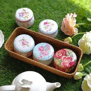 Taşınabilir Davul Şekilli Çiçek Çay Teneke Kutuları Şekeri Parti Dekor Malzemeleri Çay Konteyner Kutuları Hediye Paketi Düğün Şeker Konteyner