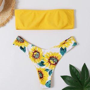 2020 New European Swimwear americana esplosione di cocco stampato sexy del bikini Swimwear Sport
