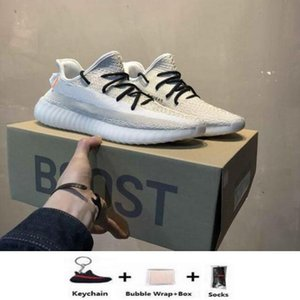 Release V2 kanye west New color Running Shoes men sneakers women Static Clay Sesame True FHyperspace shoes