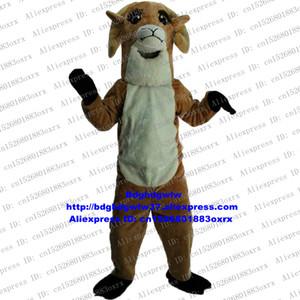 Brown Bighorn Sheep Ram Antelope Gazelle Goat Mascot Costume Adult Cartoon Character Annual Symposium  Planning zx667
