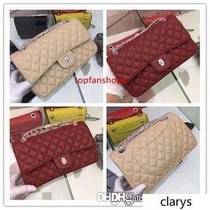 2020 Medium Flap Wallet 19c collection New Collection CLASSIC CAVIAR RECTANGULAR MINI FLAP SIER HW CROSSBODY BAG 1112 Size:25 14 7CM
