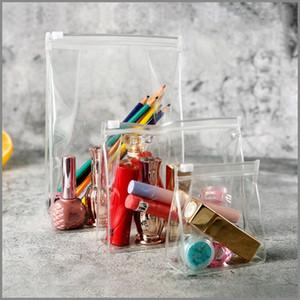 حقيبة أدوات الزينة واضحة مع ختم قوي زيبر PVC البلاستيكية سفر مستحضرات التجميل حقيبة ماكياج أكياس غسل للماء لعطلة الحمام والتنظيم