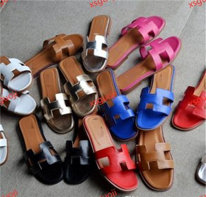 Hermes Hococal 2020 livraison gratuite français Nouveau Lian de mode d'été Pantoufles Femmes En Cuir épais et confortable chaussures à talons hauts sandales 3640