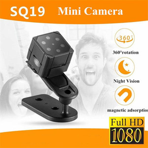 SQ19 mini cámara micro de la cámara de vídeo HD 1080P noche del sensor de visión de la videocámara DVR DV videocámara del registrador de movimiento SQ8 SQ11 SQ16 SQ23 Protable CAM