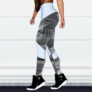 Spot Foreign Trade Four Needle Six Line Geometric Lines Sexy Yoga Sports Pants Hip High-Waist Leggings