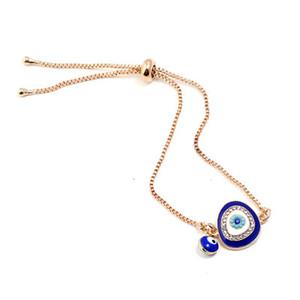 Bleu Evil Eyes réglable Bracelets Bangles amour Elephant Hamsa Fatima Palm Charm Bracelet Vintage Trendy Bijoux pour la fête des mères cadeau