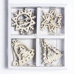 2018 New Christmas decoration pendant holiday supplies wooden Christmas tree ornaments living room wall bedroom ornaments