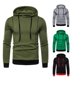 Mens Solid Color Casual Hoodies Long Sleeve Pullover Hooded Spring Autumn Sweatshirt Homme Designer Clothes