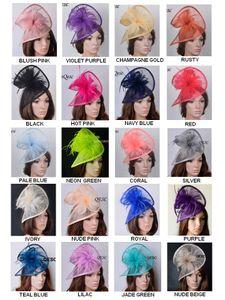 20 цветов, новое высококачественное горячее синамай фаснатор Кентукки Дерби шляпа свадебный головной убор в особой форме с перьями для гонок, свадьба