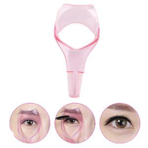 Eyelash Tools 3 in 1 Makeup Mascara Shield Guard Curler Applicator Comb Guide