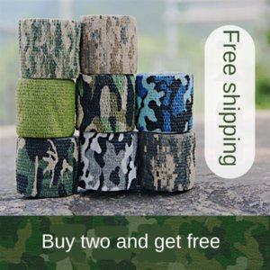 Self-adhesive stretching elastic bandage outdoor bionic non-woven fabric jungle camouflage tactical adhesive tape hunting camouflage