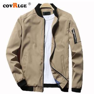Chaquetas para hombre Covrlge Spring Bomber Chaqueta con cremallera Masculina Casual Streetwear Hip Hop Slim Fit Pilot Coat Hombres Ropa más 4XL MWJ146