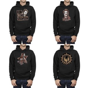 Fashion Men BATTLESTAR GALACTICA BSG LOGO Fleece Hoodies,Sweatshirt Casual Cool Friends Hoodies PARKS AND RECREATION WHATS CRACKIN BOO