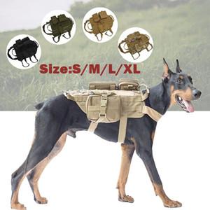 사냥 재킷 3 파우치와 야외 조끼 개 훈련 하중 베어링 의류 전술 육군 서비스 하네스 세트