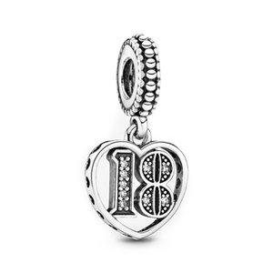 30th 18th 60th Celebration Dangle Charm 925 Silver Charm Fit Pandora Charm Bracelet&Necklace for Women Jewelry