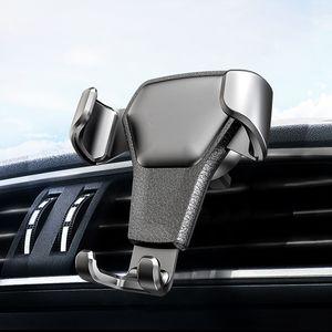 Suporte vertical do grampo do telefone móvel da navegação do suporte do telefone da gravidade universal do respiradouro de ar do carro