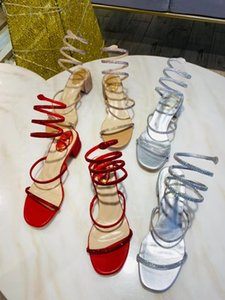 Women shoes Pumps high-heeled crystal strappy sandals export shoes Leather Bridal Shoes Sandals non-slip bottom Knee-High Casual High Heels