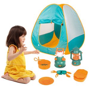 8pcs Set Kids Play Tent Outdoor Camping Cookware Toys Tools Set Toys for Boys Girls Children Camping Equipment