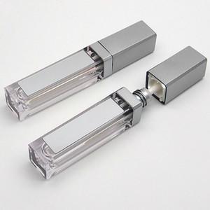 Leeres New 7ML LED Lip Gloss Tubes quadratischer freie Lipgloss Mehrweg Container Kunststoff Lipgloss Make-up Verpackung mit Spiegel und Licht