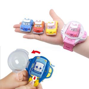 2 1 미니 원격 제어 시계 RC 자동차 장난감 모델 어린이 Catapult 진동 자동차 교육 완구 어린이를위한 어린이 날