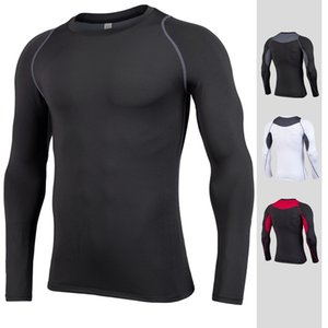 Топ футбол быстросохнущие спортивные колготки с длинным рукавом мужская футбол тренировочная база рубашка работает йога костюм дышащий фитнес костюм одежда для мужчин