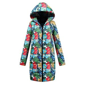 Women's long winter cotton coat plus size thin cotton coat 2020 new style casual loose Zipper long sleeve fashion hat A16