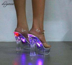 Sexy клуб женщин сандалии свадебные туфли 2019 Ночной клуб сандалии Кристалл Дно водонепроницаемый женские туфли стальных труб Танцы обувь LY191129