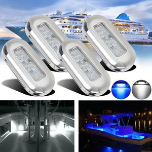 4PCS 12V 3 LED Fishing Light Attracting Fish Underwater LED Night Luring Lamps For Marine Pontoon Boat Fishing Tools