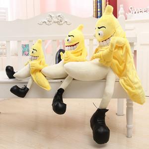 Смешной Злая Wretched Banana Человек Творческой подушка завода подушка плюш фрукты овощи еда Антистрессовая мягкая девушка подарок Дети игрушка
