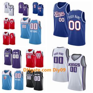 Sacramento personalizadareyesJersey Marvin 35 Bagley III de amigos24 Hield De Aaron Fox CiudadNBA Edition jerseys del baloncesto del swingman