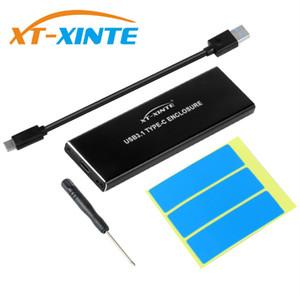 NVMe PCIE USB3.1 HDD ضميمة M.2 لUSB نوع C 3.1 M KEY حالة الأقراص SSD الصلبة الخارجية صندوق موبايل