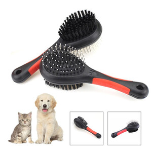 5pcs Pet Double Sided Bath Brush Dog Cat Hair Massage Handle Comb Dog Grooming Pet Hair Cleaning Pet Cat Dogs Comb