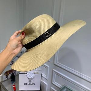 2019 Moda clásica de alta calidad para mujer sombrero para el sol marca famosa diseñador de lienzo de las mujeres al aire libre viaje sol sombrero caja coincidente