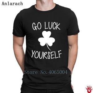 Git Luck Yourself Tişört Baskı Nefes S-XXXL Hediye Erkek Tişört Yaz Stili Hip Hop Normal Pamuk Benzersiz