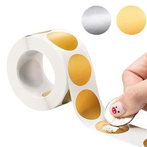 plata 300pcs rasguño redondo de pegatinas 1 pulgada rascar etiquetas adhesivas para la actividad de los partidos favorece sticker