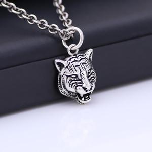 Sterling donne collana in argento S925 europea e Collana americane grande Retro argento della testa della tigre