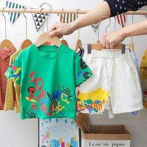 HYLKIDHUOSE 2020 Summer Infant Clothing Sets Baby Girls Boys Short Sleeve T Shirt Shorts Clothes Children Vacation Costume