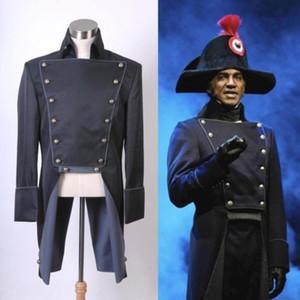 Los Miserables Norm Lewis Javert uniforme de la chaqueta del traje de Cosplay por encargo
