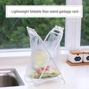 Convenient Support Frame Simple Foldable Garbage Bag Hanger Handbag Holder Kitchen Floor Garbage Rack Storage Rack