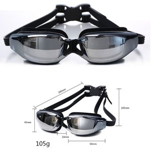 Large Frame Plating Waterproof Anti-Fog UV Swimming Glasses Clear Panoramic Vision Flexible Silicone Sockets Comfortable FitN